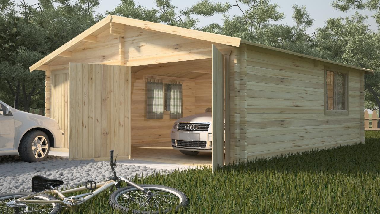 Как построить деревянный гараж дешево и быстро